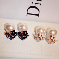 Newest Pearl Earrings For Lady Fashion Flower Luxury Stud Am...