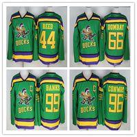Mighty Ducks 33 Greg Goldberg 66 Gordon Bombay 96 Charlie Conway 99 Adam  Banks Hockey Jerseys The Mighty Ducks Of Anaheim Movie Jersey aab53947b