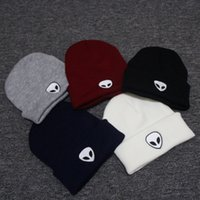 Unisex Embroidery Knitted Hats Fashion Alien Embroidered Pat...