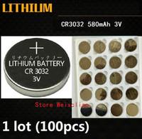 1 лот CR3032 3 в литий-литий-ионный литий-ионная батарея CR 3032 3 Вольт литий-ионные батареи бесплатная доставка
