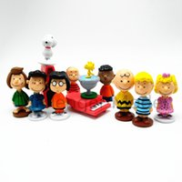 12pcs  Set Charlie Brown And Friends Beagle Woodstock Peanut...