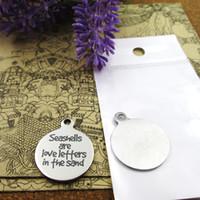 40шт - «ракушки являются любовь Leffers в FHE песка» из нержавеющей стали амулеты более стиль для выбора DIY очаровывает подвески для ожерелья
