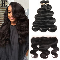 8A Brazilian Virgin Hair With Frontal Human Hair Weave 3 Bun...