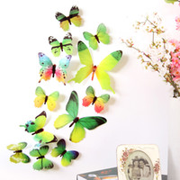12pcs Decal Wall Stickers Home Decorations 3D Butterfly Rain...