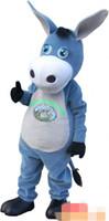 Kundenspezifisches Esel-Maskottchenkostüm Charakter-Kostüm-Erwachsene geben Verschiffen frei