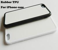 Sublimation Heat Press Phone Case voor iPhone x 5 5 S 6 7 8 Plus Rubber TPU Case + aluminiumplaat 10 stuks / partij