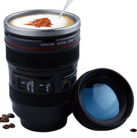 400ml Stainless Steel Camera Lens Mug With Lid New Fantastic...