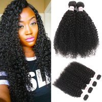 MSH 10A Brazilian Kinky Curly Virgin Hair 4 Bundles Unproces...