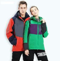2018 novos modelos de outono e inverno casal ao ar livre três-em-um casaco de duas peças homens e mulheres jaqueta de esqui quente