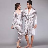 93b22b9659 Summer Women Pajamas Sexy Couple Pajamas Set Men Women Long Sleeve Sleepwear  Lover Night Suits Lovers Sleeping Clothes Sets Y83