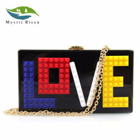 Mystic River Women Clutch Purses Ladies Love Pochette Donna Borse da sera con balconcino in acrilico