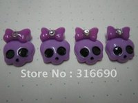 Free shipping flat cute resin skull for DIY decoration 50pcs...