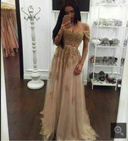 Gorgeous Beaded Sash Lace Tulle Long Prom Dresses 2020 Custo...