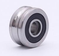 10PCS SG66 2RS U roulements à billes de poulie rainure 6 * 22 * 10 mm R3U piste de roulement à rouleaux de guidage (billes à double rangée de précision ABEC-5)