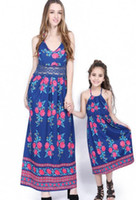 Lace Floral Mother and Daughter Matching Dress Summer Cotton...