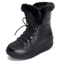 winter boots for women to keep warm ankle boots in winter PU...