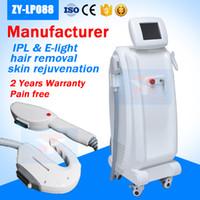 المهنية الصانع اثنين من مقابض العلاج OPT IPL الليزر / SHR آلة إزالة الشعر / سريع دائم SHR IPL معدات تجديد الجلد
