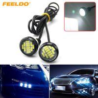 FEELDO 2PCS branco 4W 23 milímetros Lens Ultra-fino 4014 12SMD Car LED Eagle Eye Luz da cauda de backup Rear Lamp DRL Luz # 1425
