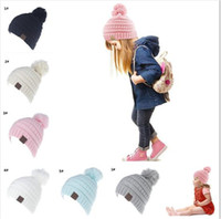 20pcs CC Beanie Kids Knitted Hats Kids Chunky Skull Caps Win...