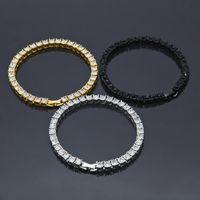 Bracelet de bracelet de hop hop hop chaîne jaune blanche noir bracelet strass strass bracelet pour hommes Femmes Nice cadeau BRC-168