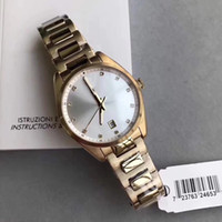 Ladies Rose Gold Tone Steel Silver Dial With Date Watch 6063...