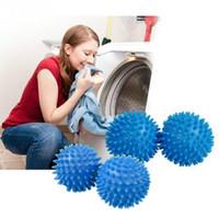 2 teile / los Bad Reinigungswerkzeuge PVC Tuch Trocknen Waschen Wäschetrockner Ball Wäsche Produkte Zubehör Blau weichmacher trocknen