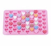 Creative Mini 55 Silicone Gummy Heart Chocolate Mold DIY Can...