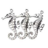 5 pz / lotto 59mm x 30mm Grande Charms Seahorse Argento Antico Tono cavallo per le donne uomini artigianali gioielli ciondolo collana pendente