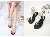 2018 Spring and summer New Women sandals Flowers decoration ...