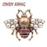 CINDY XIANG New Fashion Perle ape spille per le donne antico color oro spilla pin stile vintage gioielli di alta qualità insetto