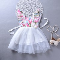 Infant Baby Girls Clothes Flower Sleeveless Ruffled Dress Su...