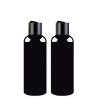 100ml 150ml 200ml 250ml 300ml Recipientes de champú vacíos con tapa superior de disco negro, tapa de prensa de botella de mascota negra, envase cosmético, botella de champú