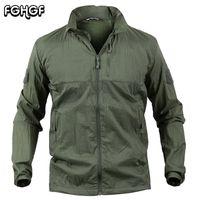Fghgf сверхлегкий водонепроницаемый куртка мужчины лето с капюшоном тактические армии ветровка куртка пальто дышащий УФ кожи плащи