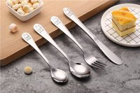Creative stainless steel small bear western tableware series...