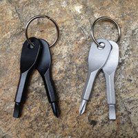 Multifunctional Pocket Tool Keychain Outdoor Camping EDC Gea...