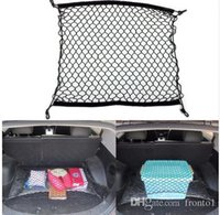 سيارة شبكة البضائع صافي مع 4 السنانير البلاستيكية الجذع المنظم حقيبة التخزين حقيبة حامل اكسسوارات السيارات 70 × 70 سم