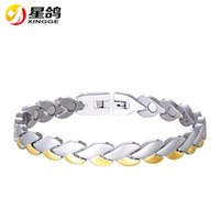 New Design Health Care Bracelets Bangles Punk stainless stee...