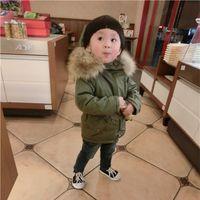 Dicke kinder winter jacken mädchen warme jacke mit pelz baby junge mantel mit kapuze kleinkind winter mantel kragen oberbekleidung schneeanzug