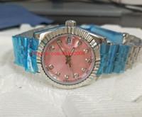 핑크 고품질 손목 시계 178271 36mm 31mm 다이아몬드 다이얼 스테인레스 스틸 아시아 2813 무브먼트 기계 자동 숙녀 여성 시계
