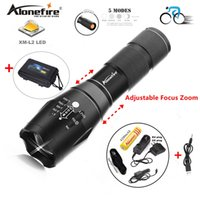Alonefire E17 G700 CREE XM- L2 5000LM Bicycle Zoomable CREE L...