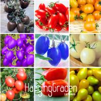جديد الطازجة البذور 7 أنواع من بذور الطماطم الكرز لذيذ الفواكه بذور الخضروات بوعاء بونساي مزروع نبات بذور الطماطم 200 قطعة / الحقيبة