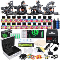 Complete Tattoo Kit 4 Guns Machine 10 Colors Ink Set Power S...