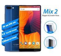 "Vernee Mix 2 4G Vernee Mix 6.0 ""Android Octa Core 4GB 64GB Teléfono móvil 18: 9 Pantalla 13.0MP Cámaras traseras dobles Escáner de huellas dactilares Celda táctil"