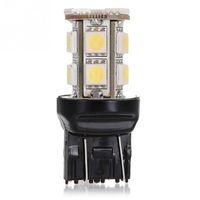 DC12V T20 W21 / 5W 7443 13 SMD 5050 LED 순수 백색 자동차 자동 광원 브레이크 주차 역 램프 전구 주간 주행 등