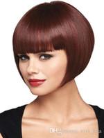 Siyah Beyaz Kadınlar için Kısa Peruk İnsan Saç gibi Yüksek Isı Fiber Pelucas Sinteticas Pelo Doğal Perruque Courte