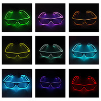 Led 안경 깜박임 EL 와이어 빛나는 장식 조명 밝은 크리스마스 생일 할로윈 선물 파티 장식 용품 DJ 댄스 안경