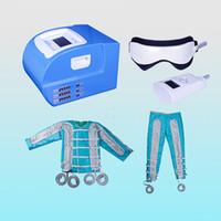 24 hava basıncı pressoterapi makinesi pressoterapi suit battaniye makinesi vücut detoks vücut çok uzak kızılötesi ems kas stimülasyonu