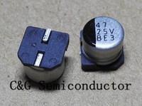 1000 sztuk 25 V 47uf 6 * 5 mm SMD Aluminiowe kondensatory elektrolityczne 6x5mm