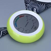 Wetterstation Touchscreen Thermometer Hygrometer Indoor Runde Digital Temperatur Luftfeuchtigkeit Meter Meteo Station
