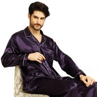 Pigiama uomo in raso di seta Set Pigiama pigiama Set PJS Pigiameria Loungewear S, M, L, XL, XXL, XXXL, 4XL
